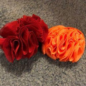 Flower hair scruchies
